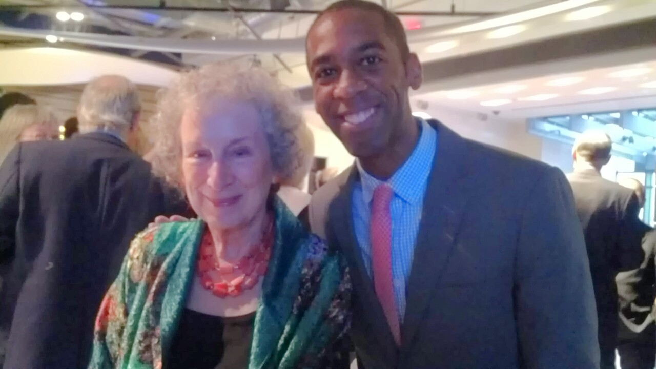 Ian Williams with Margaret Atwood at the Griffin Poetry Awards. This photo has been my wallpaper for years.